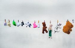 Brinquedos dos bichos de pelúcia Fotos de Stock