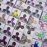Brinquedos dos giradores em um marcado imagem de stock royalty free