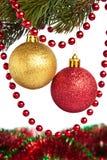 Brinquedos e festão de ano novo Fotos de Stock