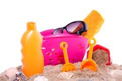 Brinquedos e proteção do sol Fotos de Stock Royalty Free