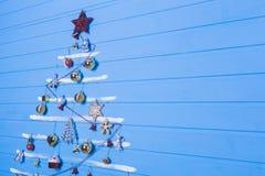 Brinquedos e texturas do Natal Imagens de Stock