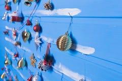 Brinquedos e texturas do Natal Imagem de Stock