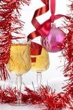 Brinquedos e wineglasses Fotografia de Stock Royalty Free