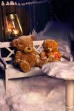 Brinquedos esquecidos Ursos jogados Ursos congelados Imagem de Stock Royalty Free