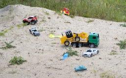 Brinquedos esquecidos velhos Imagens de Stock