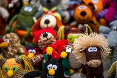 Brinquedos feitos crochê feitos à mão Fotos de Stock Royalty Free