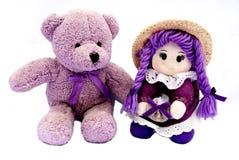 Brinquedos franceses na violeta imagem de stock