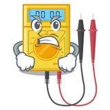 Brinquedos irritados do multímetro digital na forma dos desenhos animados ilustração stock