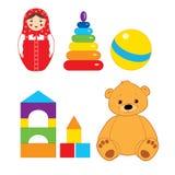 Brinquedos isolados no branco Fotos de Stock