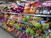 Brinquedos macios coloridos Fotografia de Stock