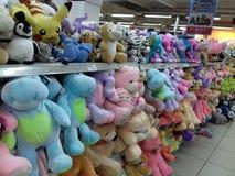Brinquedos macios coloridos Foto de Stock Royalty Free