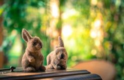 Brinquedos macios dos coelhos pequenos Imagem de Stock Royalty Free