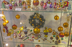 Brinquedos modernos do Natal feitos na tradição dos povos do russo Imagem de Stock Royalty Free