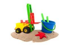Brinquedos na areia Imagem de Stock