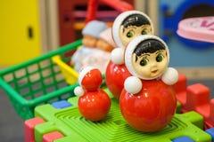 Brinquedos na sala de jogos das crianças Foto de Stock Royalty Free