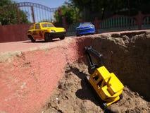 Brinquedos na terra Foto de Stock