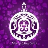 Brinquedo do sino de Natal do vetor Fotos de Stock Royalty Free