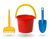 Brinquedos para a caixa de areia ilustração stock