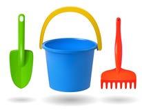 Brinquedos para a caixa de areia ilustração royalty free