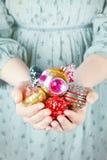 Brinquedos para o Natal três imagem de stock royalty free