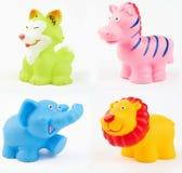 Brinquedos plásticos do banho Foto de Stock