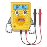 Brinquedos receosos do multímetro digital na forma dos desenhos animados ilustração do vetor