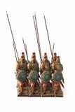 Brinquedos romanos do falange do combate foto de stock