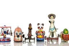Brinquedos velhos do estanho Fotografia de Stock Royalty Free