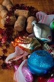 Brinquedos velhos do Natal de minha bisavó Imagens de Stock