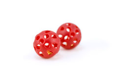 Brinquedos vermelhos do gato da esfera Foto de Stock