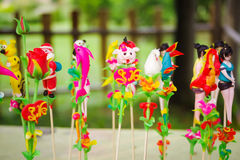Brinquedos vietnamianos tradicionais das crianças Imagem de Stock Royalty Free