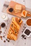Brioche με τα τσιπ σοκολάτας Στοκ φωτογραφία με δικαίωμα ελεύθερης χρήσης