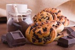 Brioche τσιπ σοκολάτας κουλούρια. Στοκ εικόνα με δικαίωμα ελεύθερης χρήσης