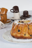 Brioche ψωμί με τις σταφίδες Στοκ Φωτογραφίες