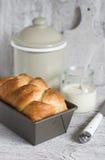 Brioche in the baking dish Stock Image