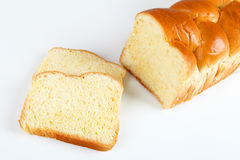 Brioche. Broiche bread with white background Royalty Free Stock Images