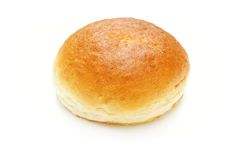 Brioche bun on white Royalty Free Stock Photos