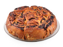 Brioche with chocolate Royalty Free Stock Photo