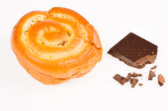 Brioche de chocolat Images stock