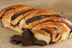 Brioche del cioccolato Fotografia Stock