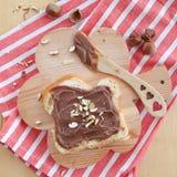 Brioche with homemade chocolate spread Stock Photo
