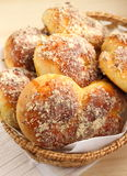 Brioche with nuts Royalty Free Stock Images