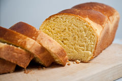 Brioche and slices Stock Images
