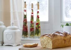 Brioche on the table Royalty Free Stock Images