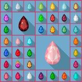 Briolette delle gemme di vettore Fotografie Stock