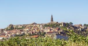 Briones village, La Rioja, Spain. Panoramic view ,Briones village, La Rioja, Spain royalty free stock photography