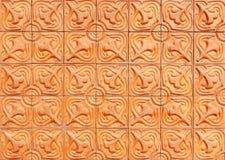 Brique avec les modèles floraux Image stock