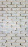 Brique blanche - sans joint Images stock