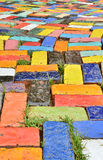Brique colorée Photos stock
