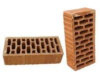 Brique dans deux vues photos stock